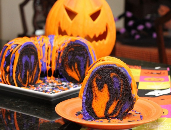 Easy Halloween Cakes  Amazing Halloween Rainbow Party Bundt Cake Recipe