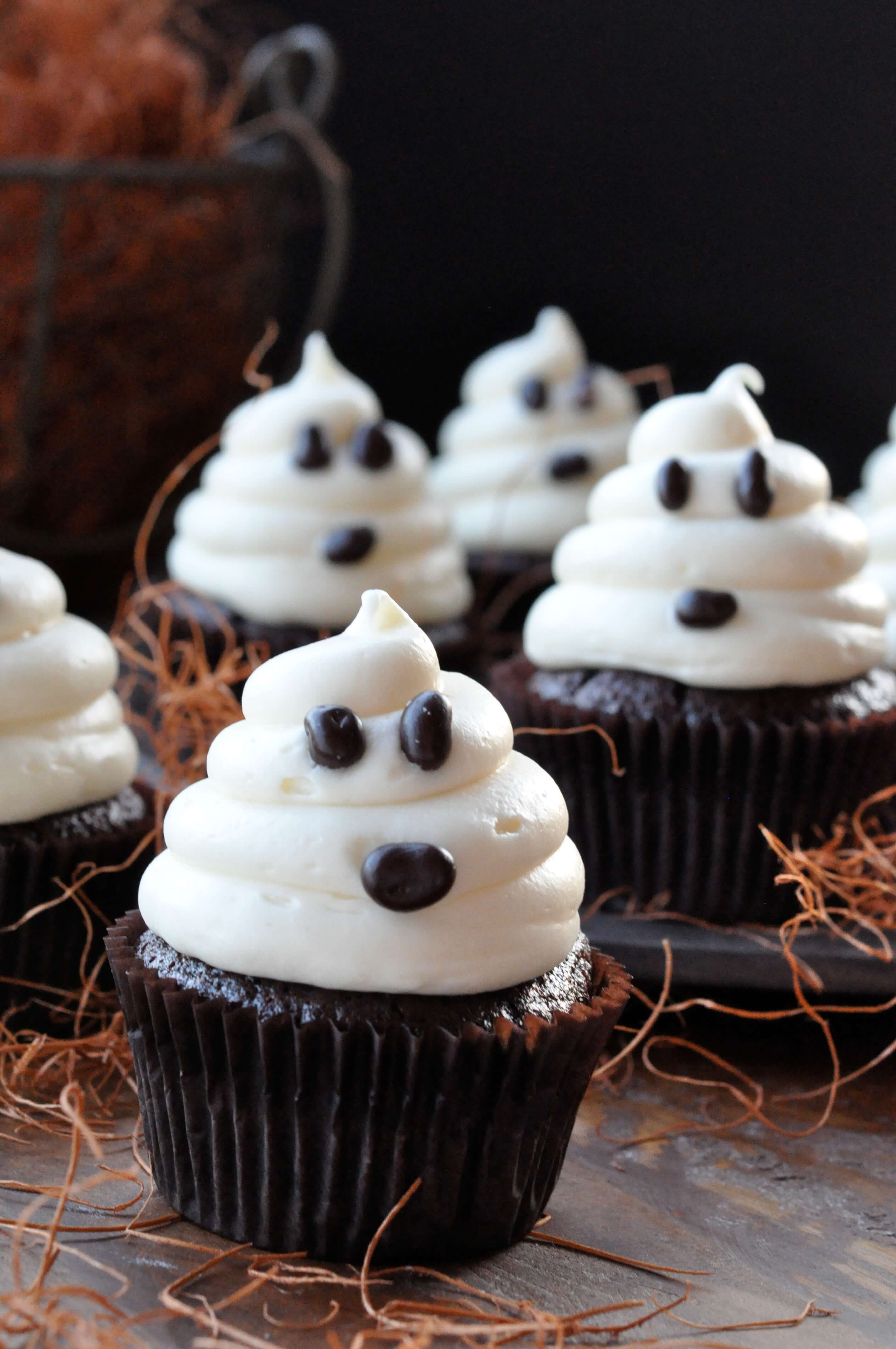 Easy Halloween Cupcakes  Halloween Ghosts on Carrot Cake Recipe—Fast and Easy
