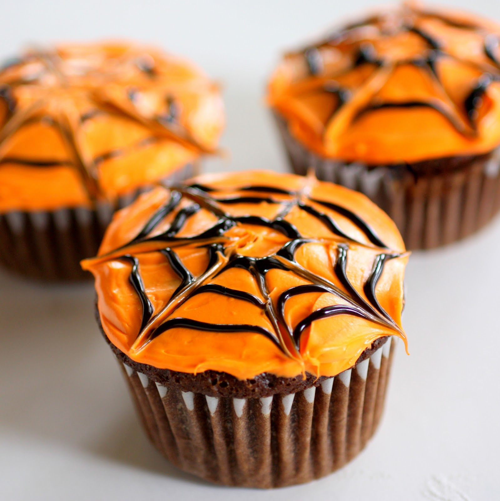Easy Halloween Cupcakes  Spiderweb Cupcakes The Girl Who Ate Everything