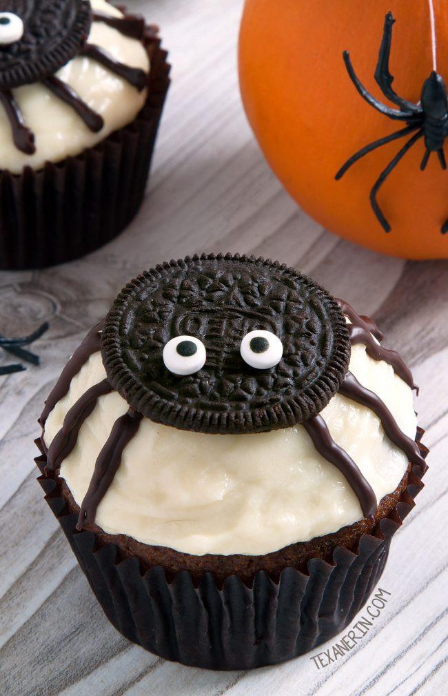 Easy Halloween Cupcakes  Spider Cupcakes for Halloween gluten free grain free