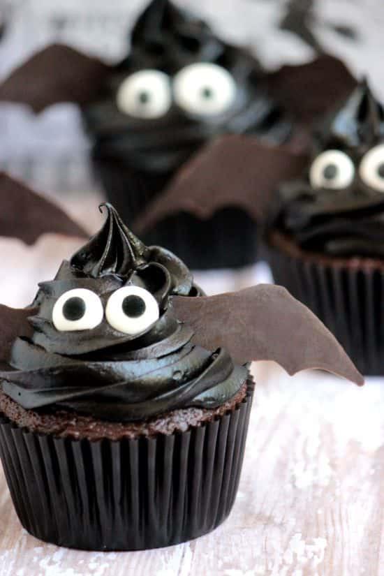 Easy Halloween Cupcakes  Easy Bat Cupcakes A Cedar Spoon