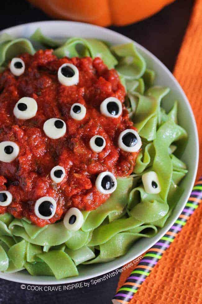 Easy Halloween Dinners  Eyeball Pasta Halloween Dinner Idea Spend With Pennies