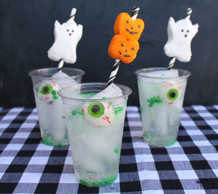 Easy Halloween Drinks Alcohol  easy halloween drink with peep straws A girl and a glue gun
