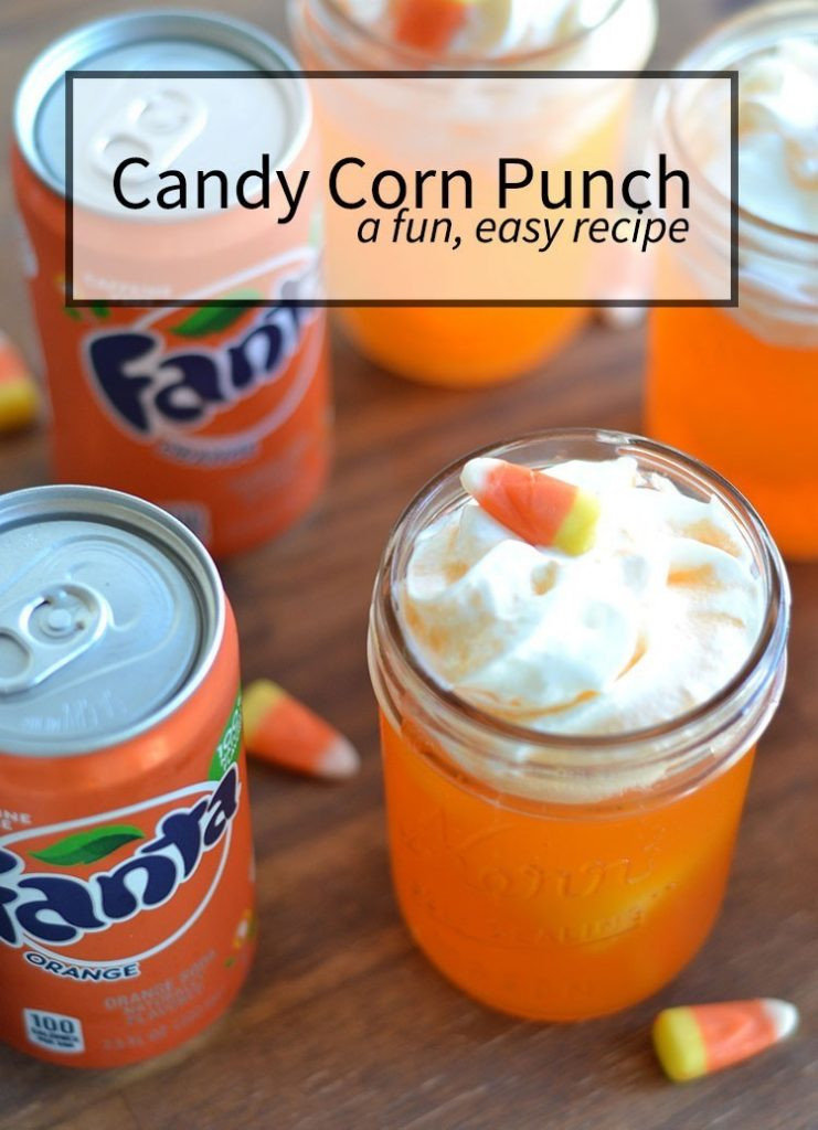 Easy Halloween Drinks  Candy Corn Punch