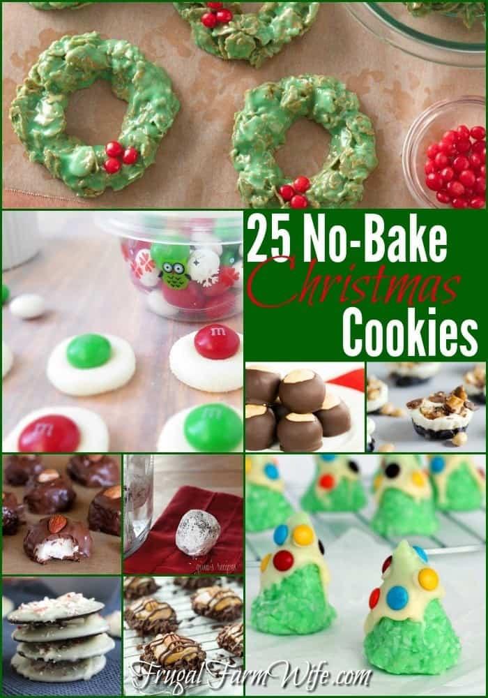 Easy No Bake Christmas Cookies  25 No Bake Christmas Cookies