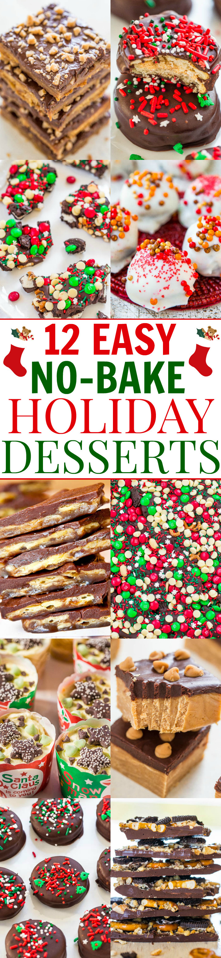 Easy No Bake Christmas Desserts  12 Easy No Bake Holiday Desserts Averie Cooks
