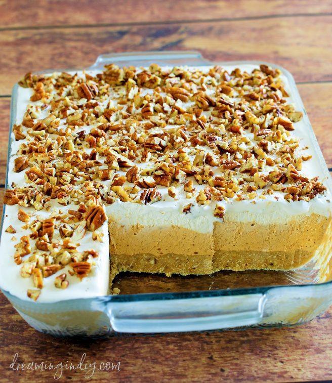 Easy No Bake Christmas Desserts  Pumpkin Spice Lush – Easy No Bake Layered Dessert Recipe