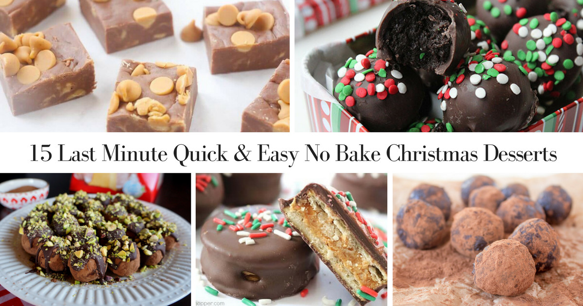 Easy No Bake Christmas Desserts  15 Last Minute Quick & Easy No Bake Christmas Desserts
