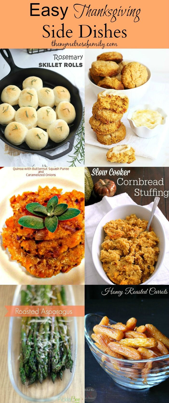 Easy Side Dishes For Thanksgiving Meal  199 best images about Easy Thanksgiving Recipes & Crafts