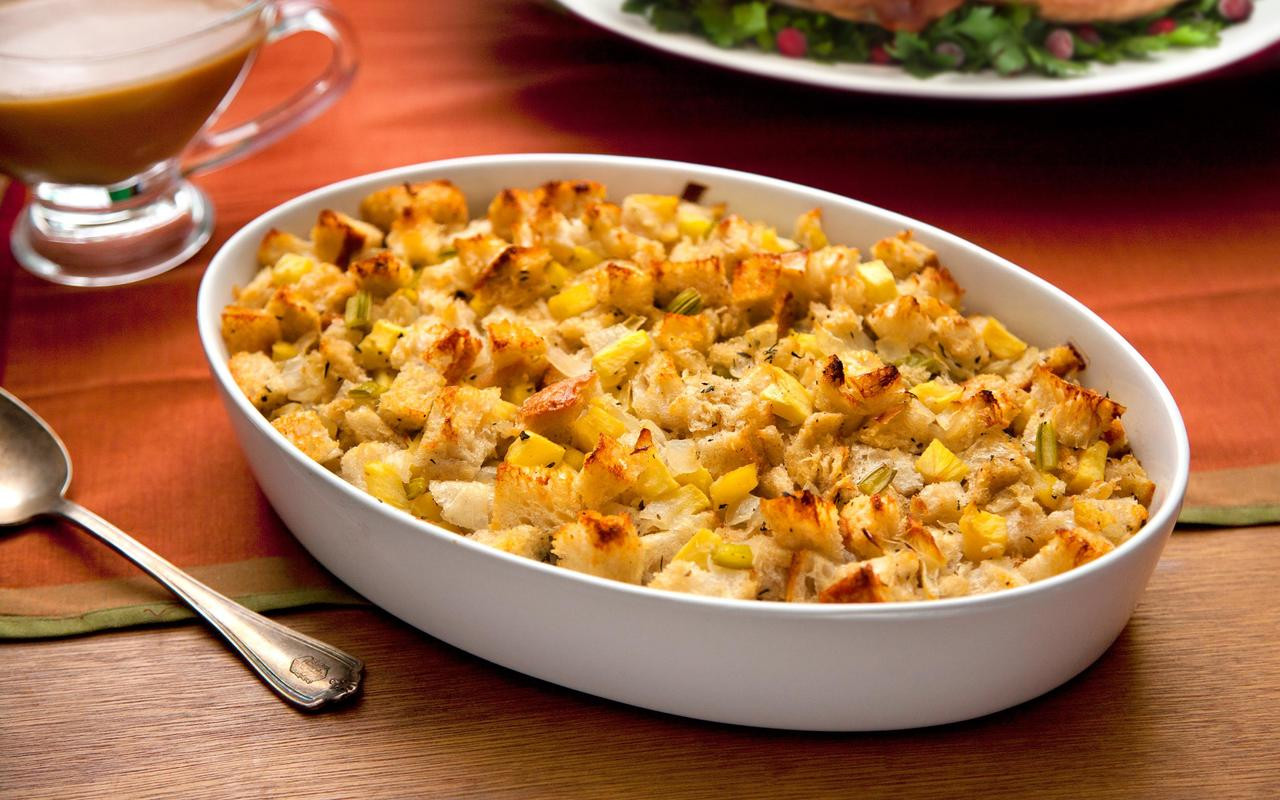 Easy Thanksgiving Turkey Recipes  Thanksgiving Stuffing with Apples and Sage Recipe Chowhound