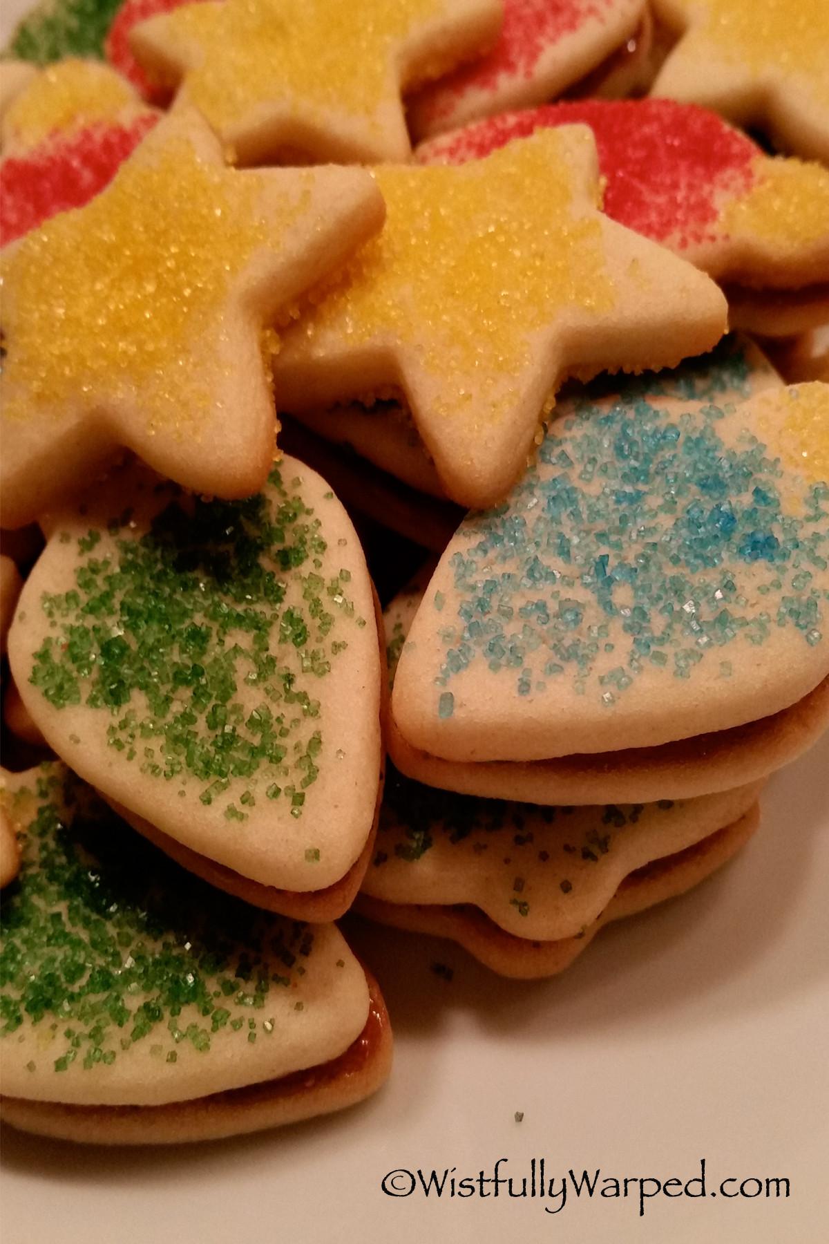 Eggless Christmas Cookies  Eggless Sugar Cookies Christmas Style wistfullywarped