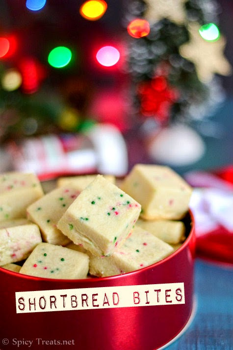 Eggless Christmas Cookies  Spicy Treats Shortbread Bites