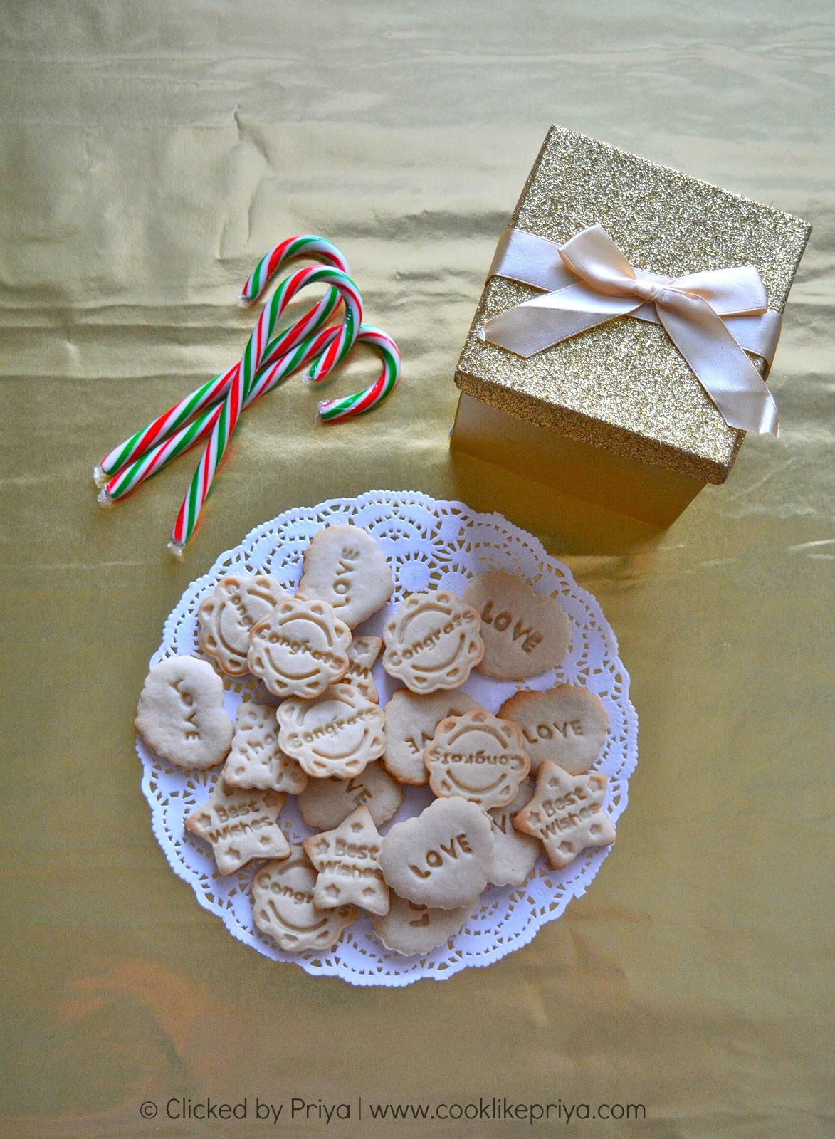 Eggless Christmas Cookies  Cook like Priya Eggless Sugar Cookies