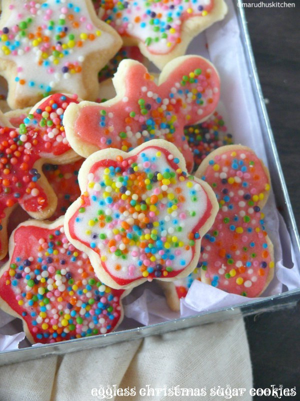 Eggless Christmas Cookies  eggless christmas sugar cookies cut out cookies with