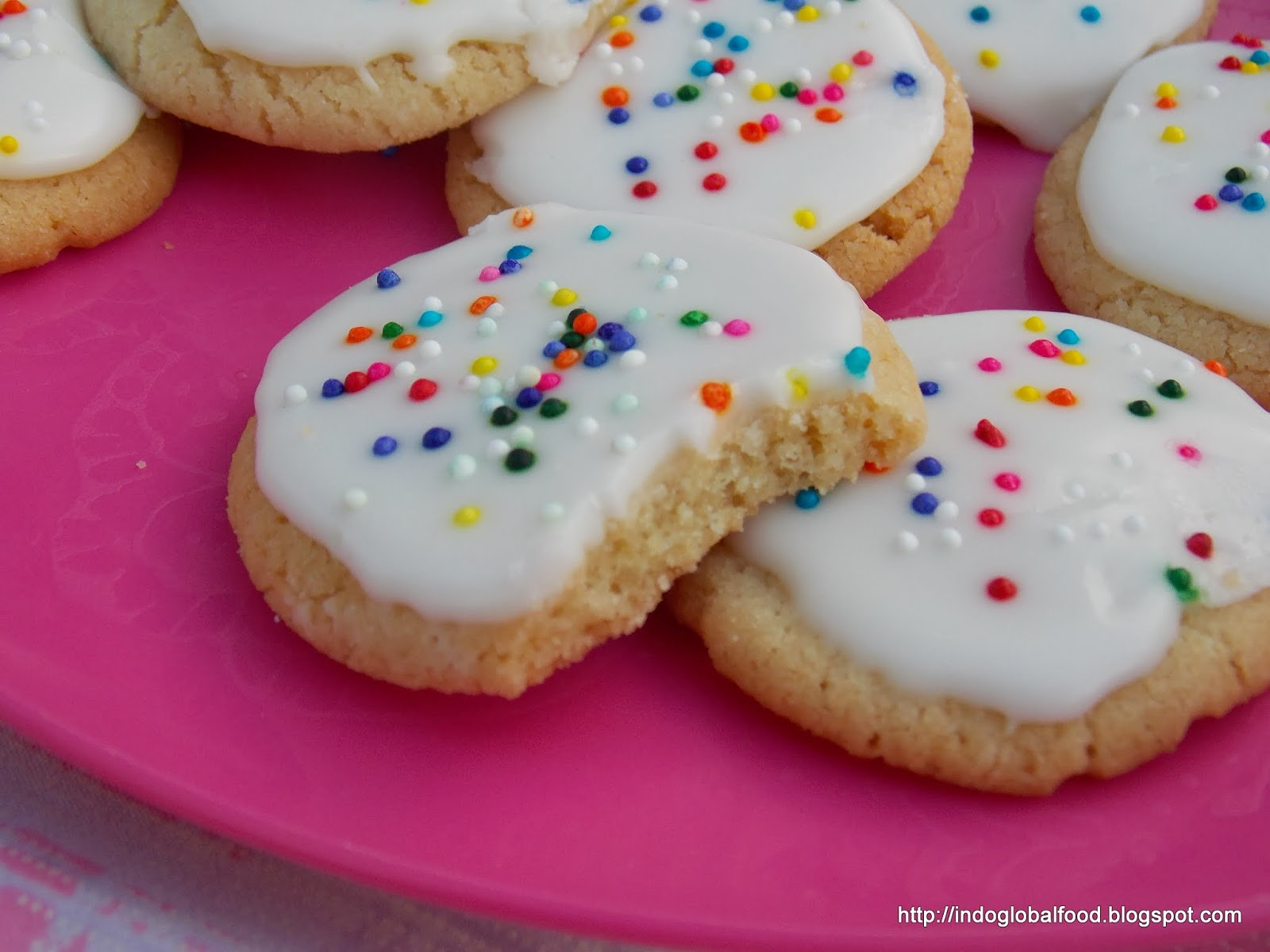 Eggless Christmas Cookies  Eggless Sugar Cookie with Icing Using Wheat Flour