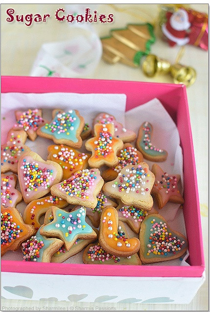 Eggless Christmas Cookies  Eggless Sugar Cookies with royal icing