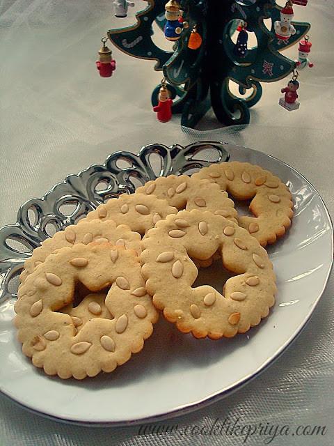 Eggless Christmas Cookies  Cook like Priya Eggless Spiced Sugar Cookies