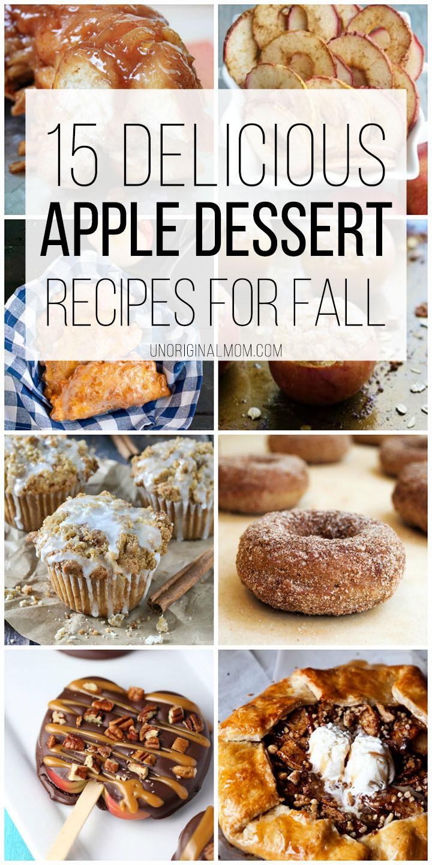 Fall Apple Desserts  Delicious Apple Dessert Recipes for Fall unOriginal Mom