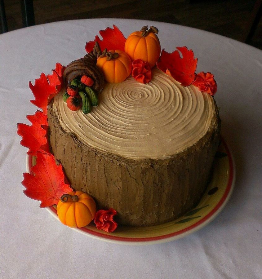 Fall Birthday Cake Ideas  Beautiful cake perfect for Thanksgiving or Autumn