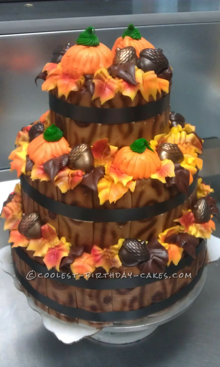 Fall Birthday Cake Ideas  Fall Time Display Cake