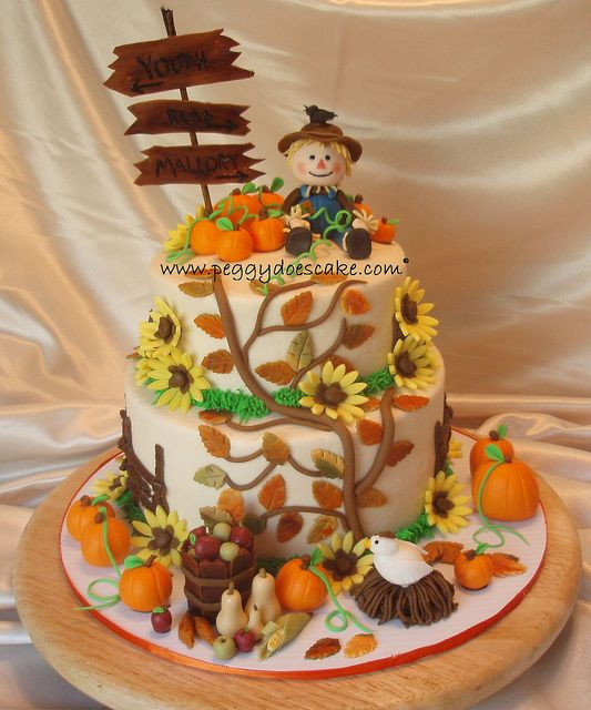 Fall Birthday Cake Ideas  Harvest Cake by peggyslee via Flickr