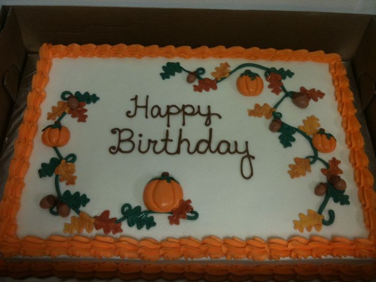 Fall Birthday Cake Ideas  1000 ideas about Fall Birthday Cakes on Pinterest