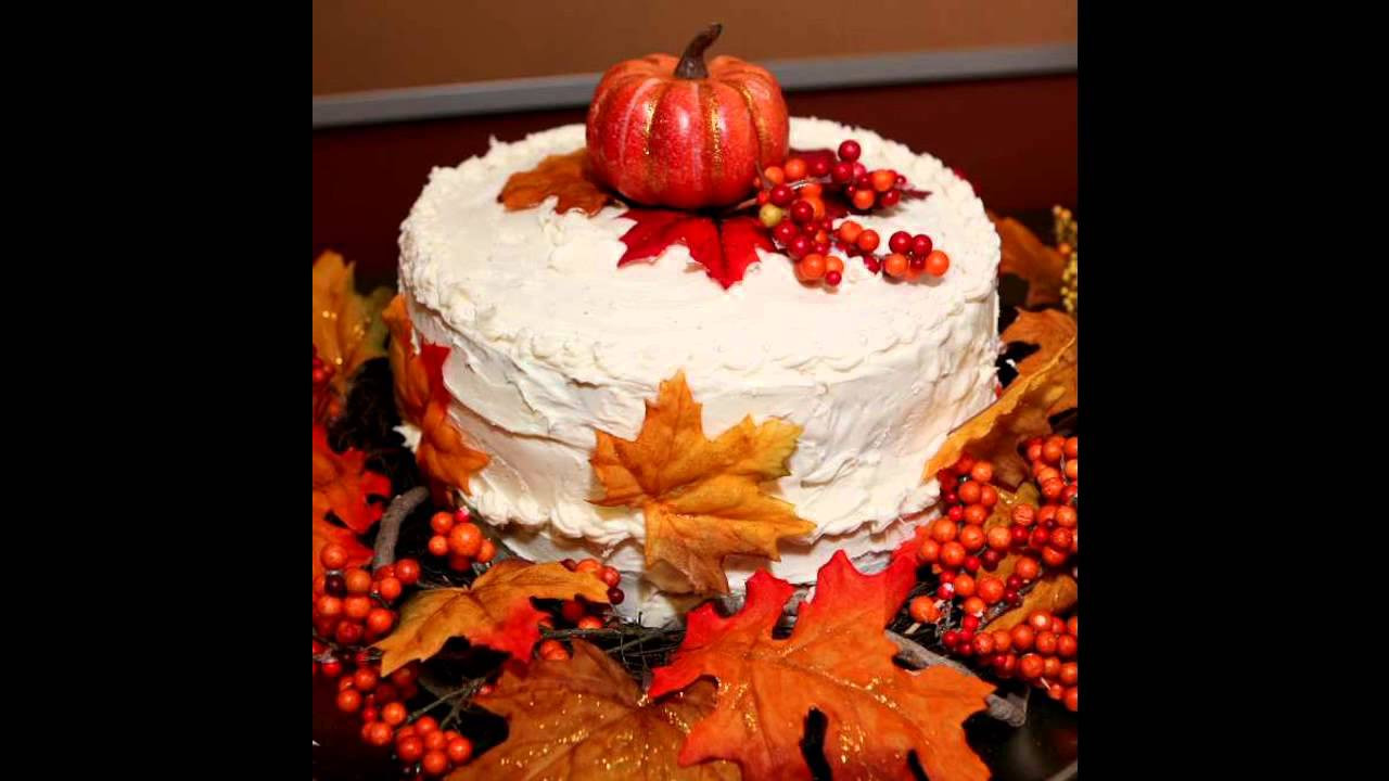 Fall Birthday Cake Ideas  Beautiful Fall birthday cake decorating ideas