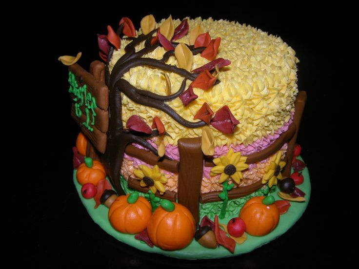 Fall Birthday Cake Ideas  Best 25 Fall theme cakes ideas on Pinterest