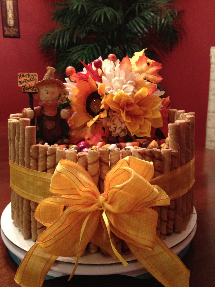 Fall Birthday Cake Ideas  Fall themed birthday cake Cake ideas Pinterest
