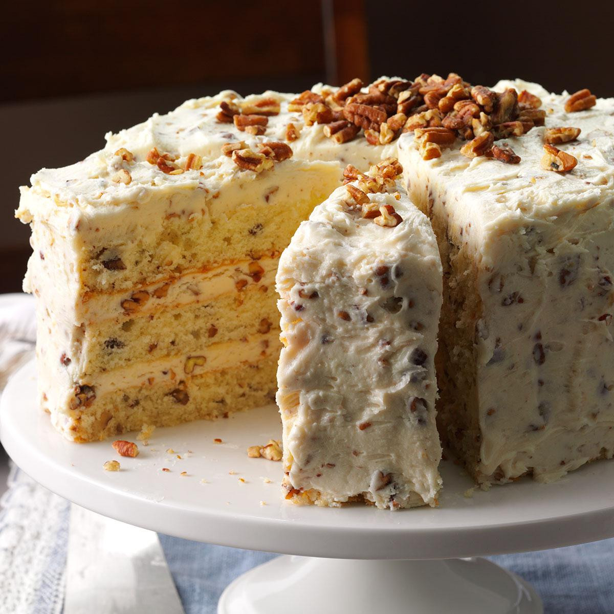Fall Cake Recipes  Butter Pecan Layer Cake Recipe
