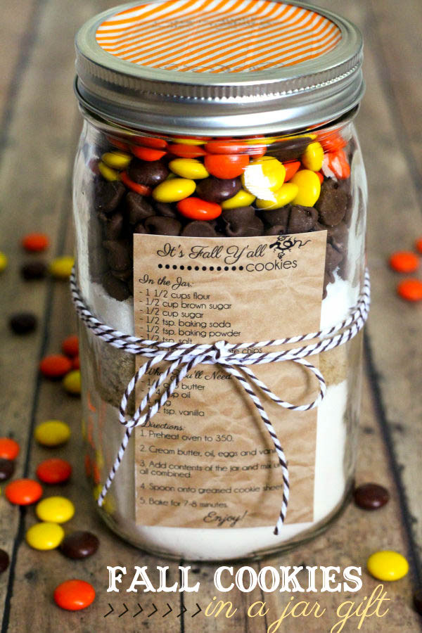 Fall Cookies Recipe  Fall Cookies in a Jar Gift