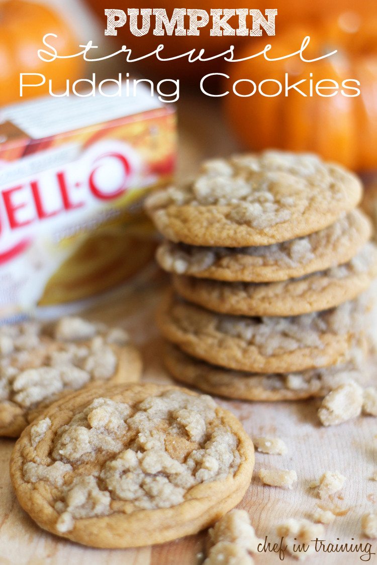 Fall Cookies Recipe  Pumpkin Streusel Pudding Cookies Chef in Training