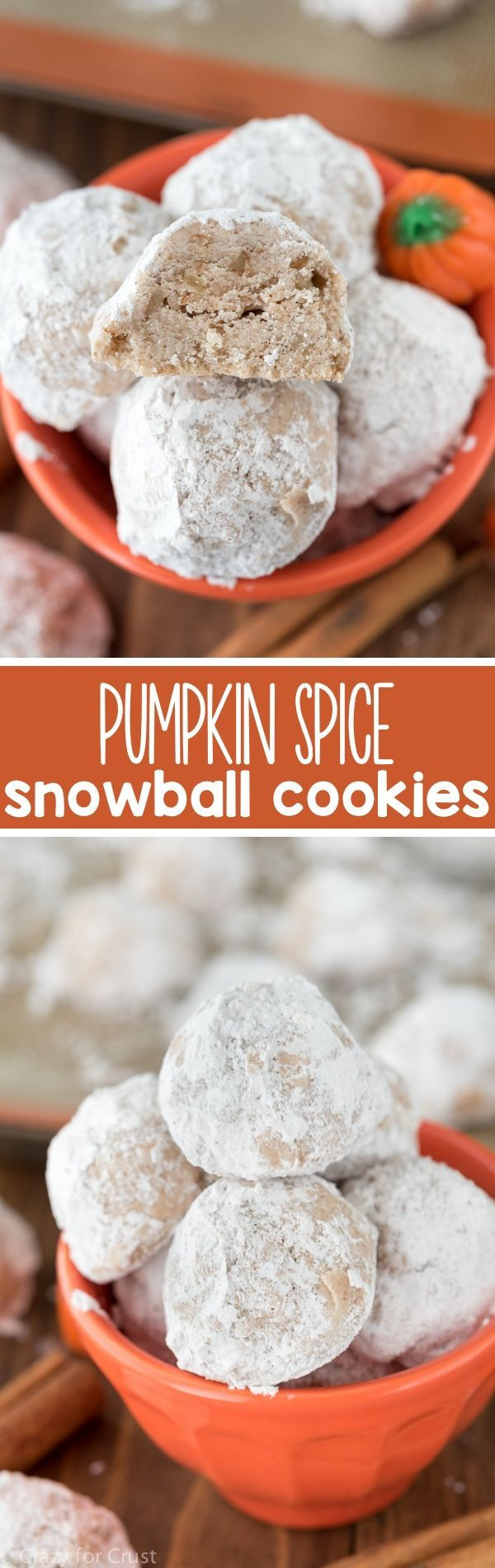 Fall Cookies Recipe  These Easy Pumpkin Spice Snowball Cookies are a family