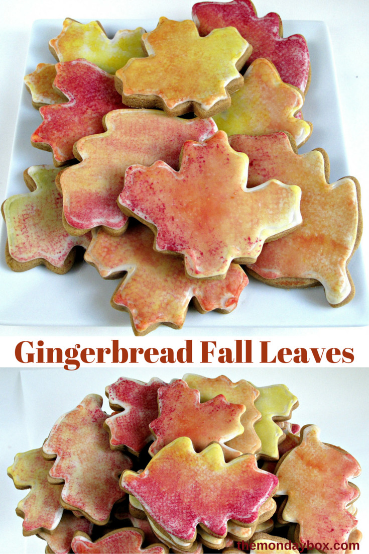 Fall Cut Out Cookies  Gingerbread Fall Leaves The Monday Box
