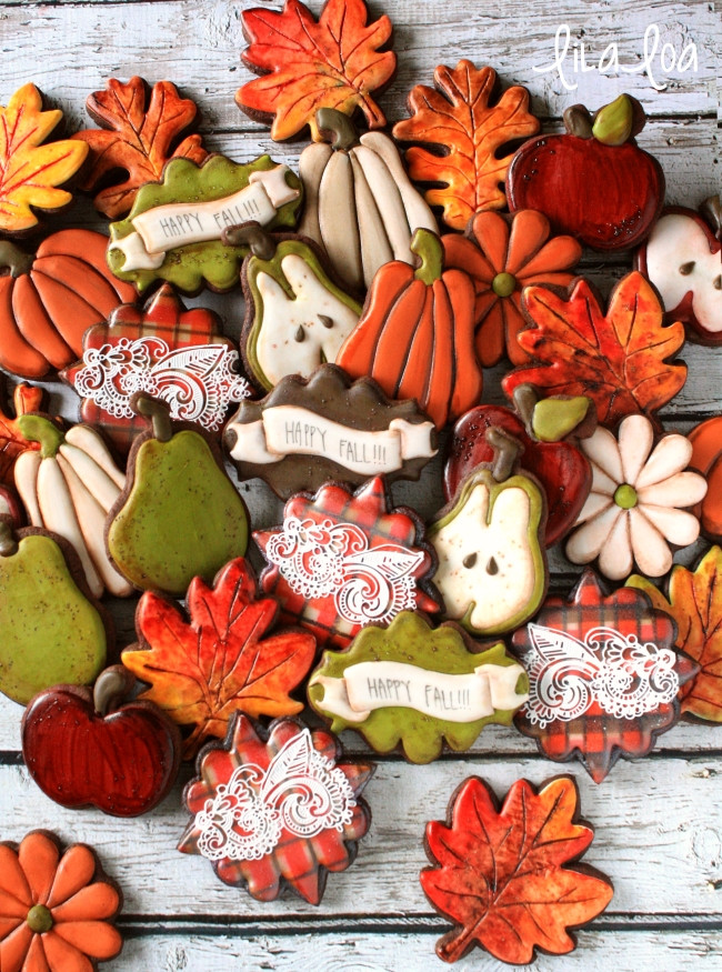 Fall Cut Out Cookies  Decorated Pear Cookies Video Tutorial