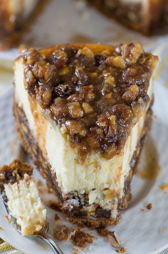 Fall Desserts Pinterest  Pecan Pie Cheesecake ese are the BEST Fall Dessert