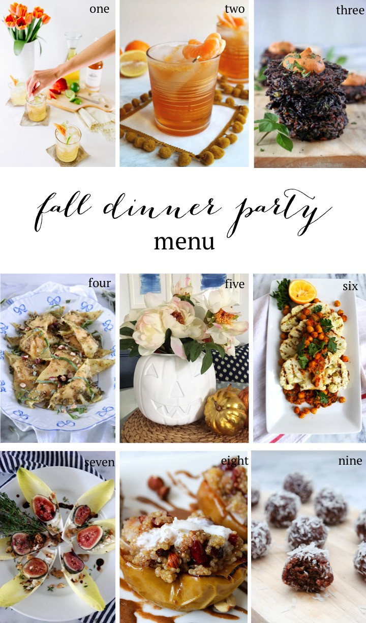 Fall Dinner Party Menu  Fall Dinner Party Menu Sequins at Breakfast