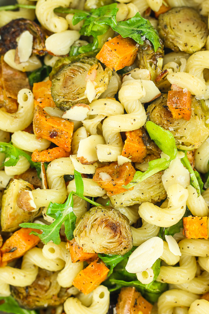 Fall Pasta Salad  Vegan Fall Pasta Salad with Brussels Sprouts and Sweet