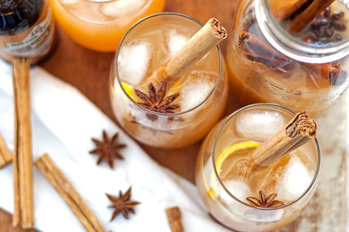 Fall Rum Drinks  Autumn Spiced Rum Cider Cocktail Honey and Birch