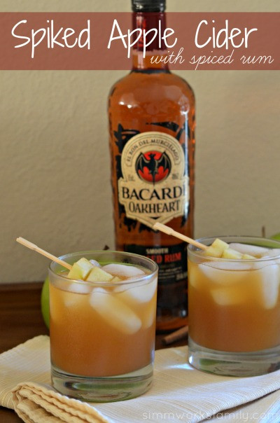 Fall Rum Drinks  Spiked Apple Cider With Spiced Rum fall cocktails Mommy