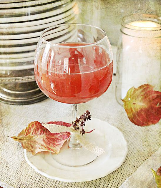 Fall Rum Drinks  Fall Drink Recipe apple cider pomegranate juice and