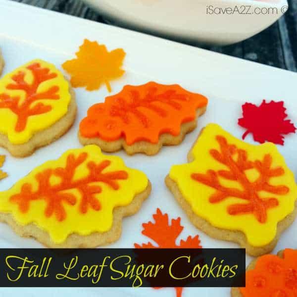 Fall Sugar Cookies  Fall Leaf Sugar Cookies iSaveA2Z