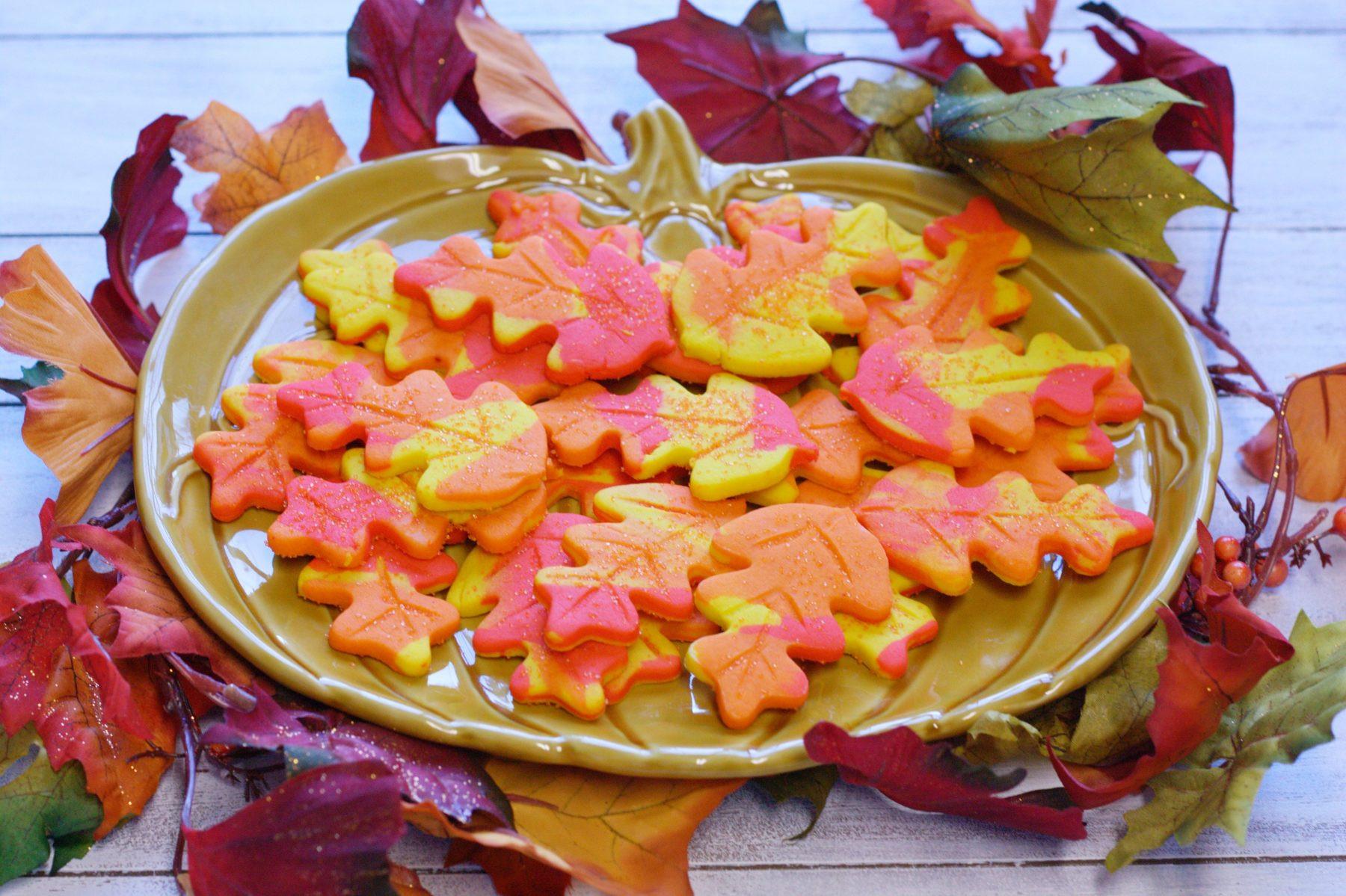 Fall Sugar Cookies  The Ultimate Fall Cookies Colorful Leaf Cookies • Food
