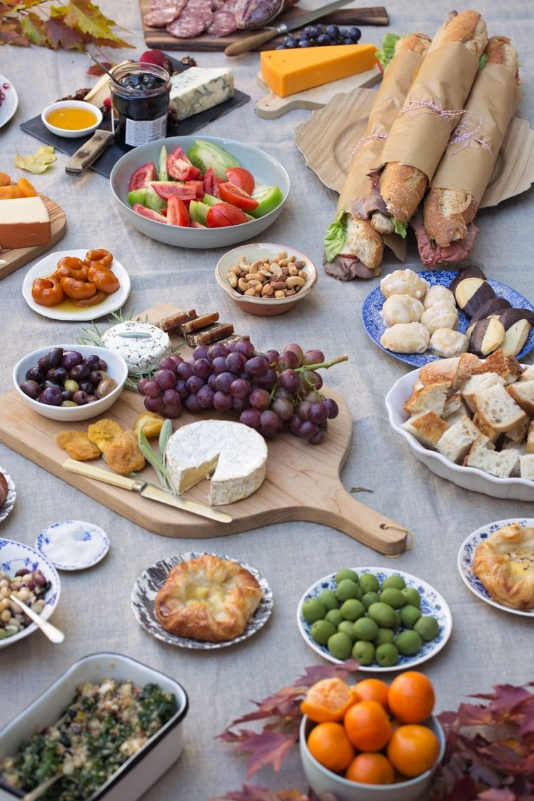Fall Sunday Dinner Ideas  Fall Picnic Sunday Supper Table and Dish TableandDish