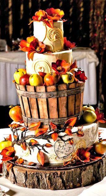 Fall Wedding Cakes Ideas  25 Apple Inspired Fall Wedding Ideas