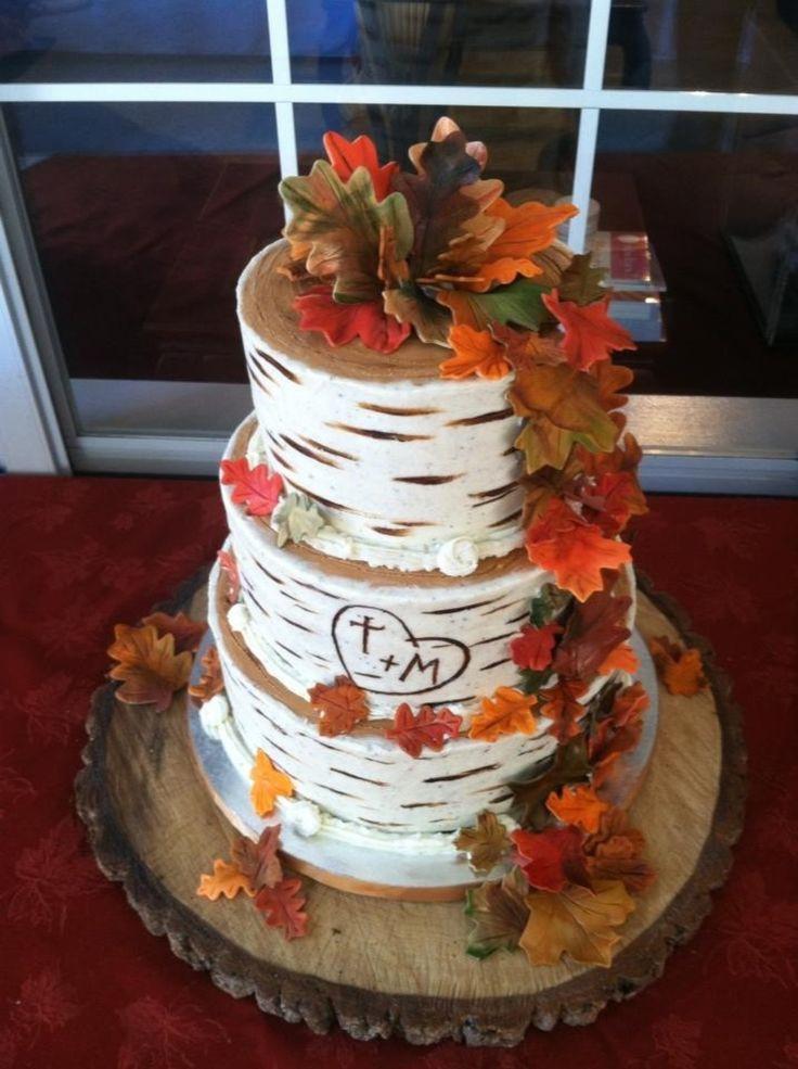 Fall Wedding Cakes Ideas  25 best ideas about Fall Wedding Cakes on Pinterest