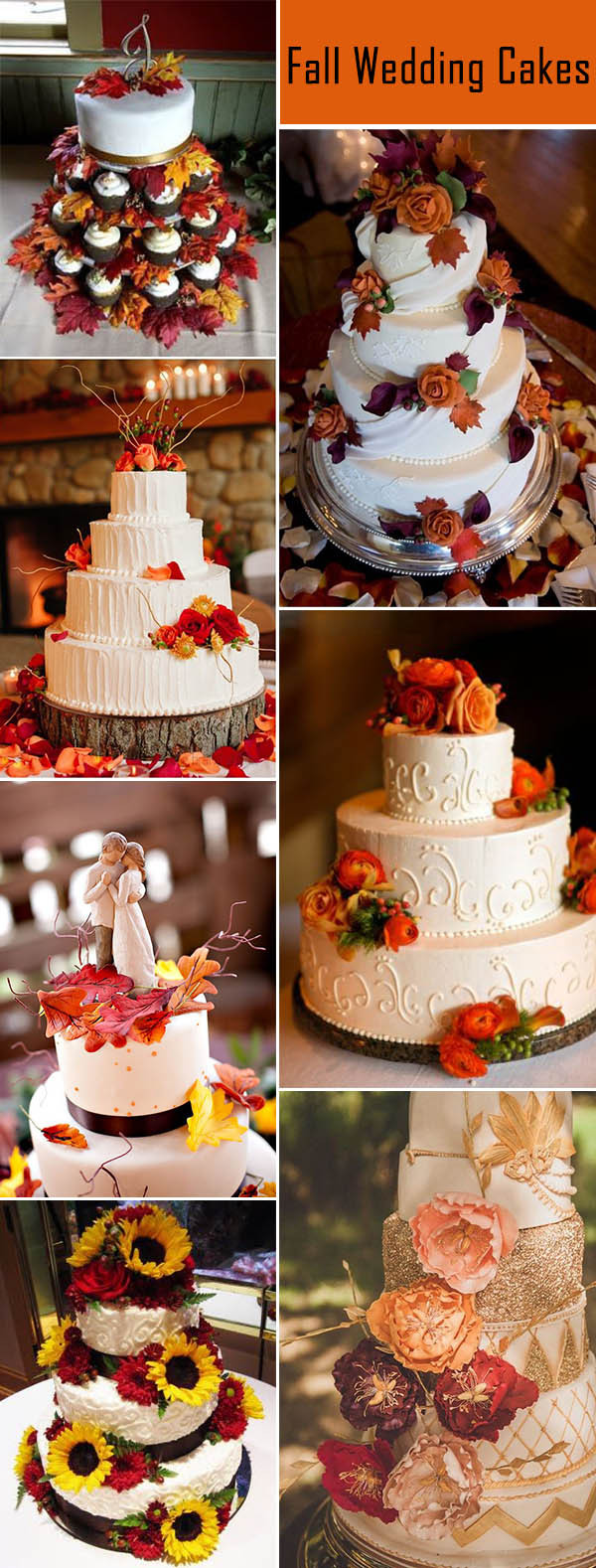 Fall Wedding Cakes Ideas  Fall In Love With These 50 Great Fall Wedding Ideas