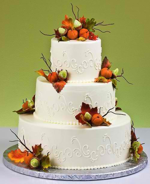 Fall Wedding Cakes Pictures  Autumn Wedding Cakes