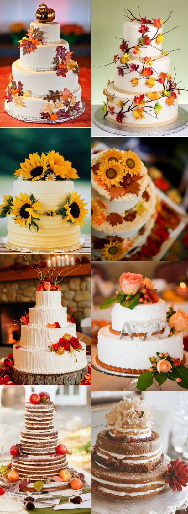 Fall Wedding Cakes Pictures  31 Beautiful Naked Wedding Cake Ideas For 2016