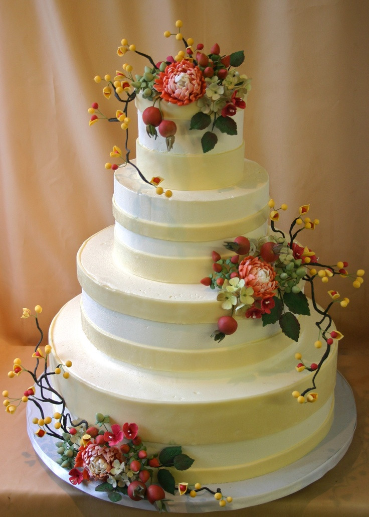 Fall Wedding Cakes Pictures  Picture Awesome Fall Wedding Cakes
